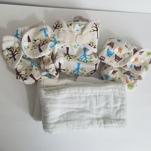 Thirsties cloth diaper cover lot Size one